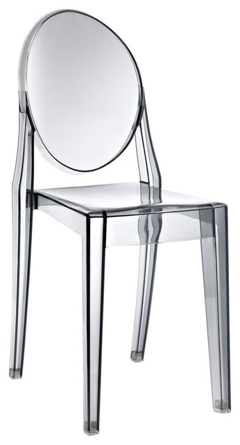 Modway Casper Dining Side Chair in Smoked Clear  : contemporary dining chairs from www.houzz.co.uk size 346 x 640 jpeg 32kB