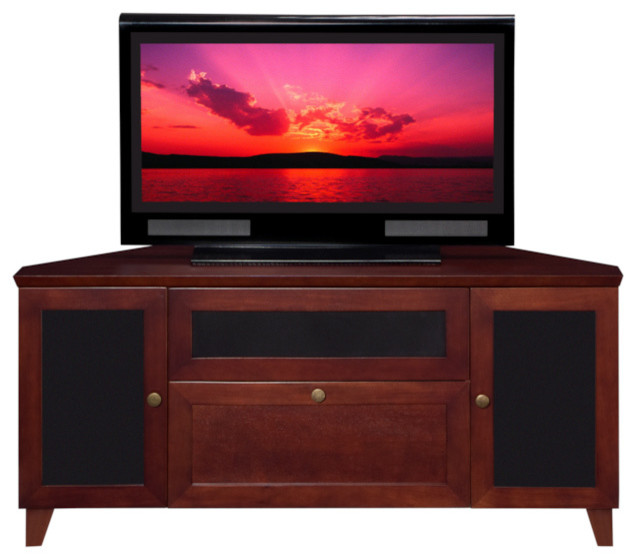 """61"""" Shaker Style TV Media Corner Console - Farmhouse - Entertainment Centers And Tv Stands"""