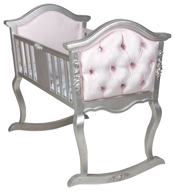 afk tufted applique silver gilding cradle moderne berceau et couffin par layla grayce. Black Bedroom Furniture Sets. Home Design Ideas