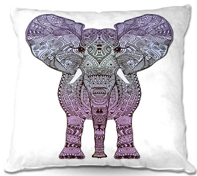 DiaNoche Throw Pillows Elephant Purple - Contemporary - Scatter Cushions - by DiaNoche Designs