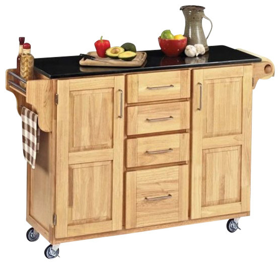 Kitchen Cart With Granite Top Traditional Kitchen Islands And Kitchen