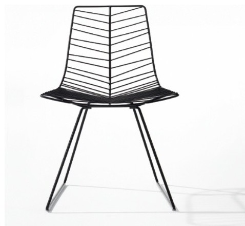 arper leaf chair with sled base modern dining chairs other by