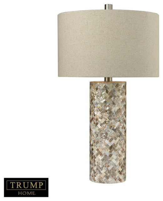 herringbone mother of pearl table lamp transitional table lamps. Black Bedroom Furniture Sets. Home Design Ideas