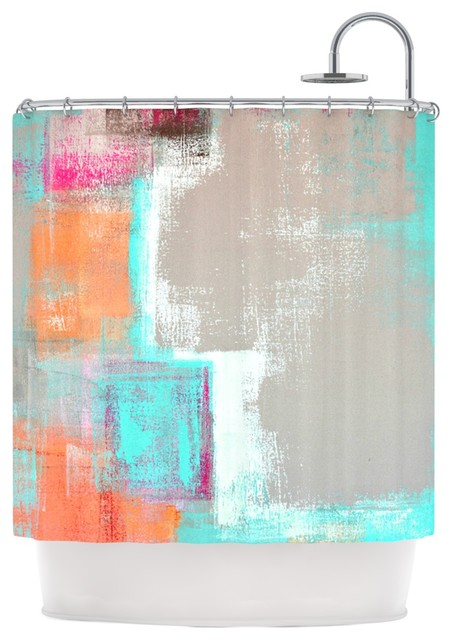 CarolLynn Tice Gifted Gray Aqua Shower Curtain Contemporary S