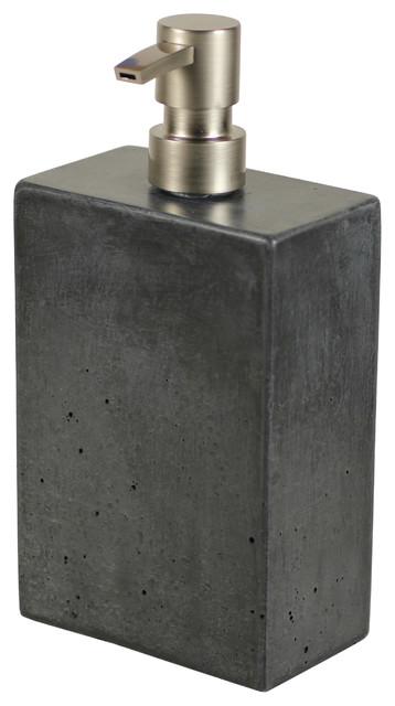 Concrete Soap Dispenser Dark Gray Modern Bathroom Accessories By Rough Fusion