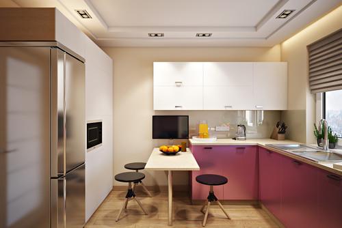 кухня в типовой квартире по проекту дизайнера