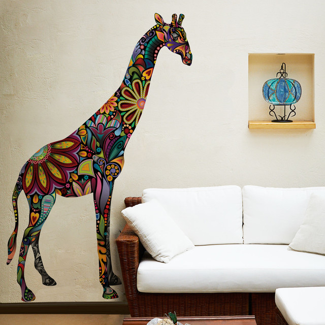 Giraffe Wall Sticker contemporary-wall-decals