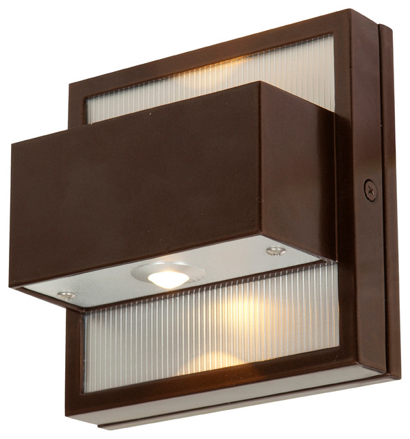Wall Sconces For Damp Locations : ZyZx, 23064LEDMG, Wet Location Wallwasher, LED, Bronze Finish - Transitional - Outdoor Wall ...
