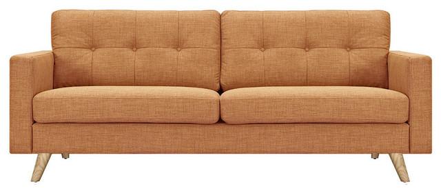 Wheat brown uma sofa natural wood color legs Sofa uma