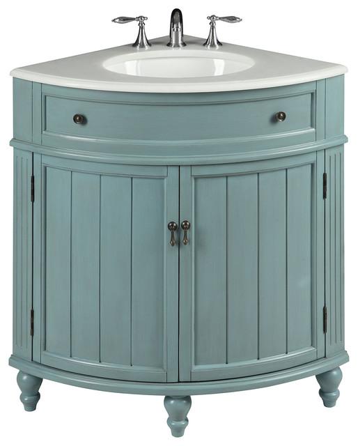24 Cottage Style Vantage Light Blue Thomasville Bathroom Sink Vanity Beach Style Bathroom