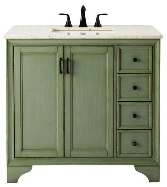Home Decorators Collection Bathroom Hazelton 37 In Vanity In Antique Green Contemporary