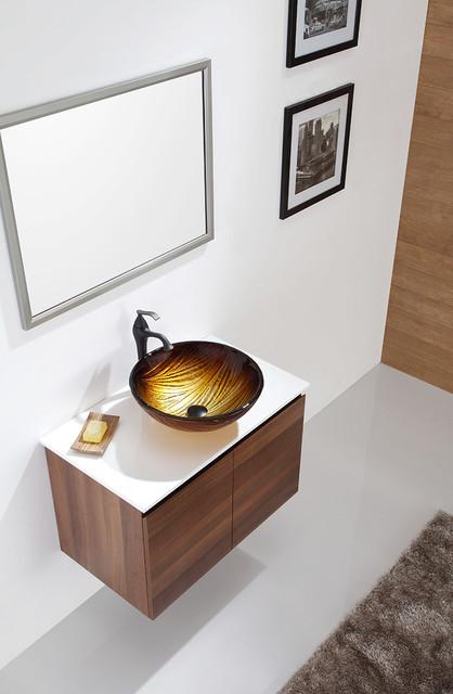 kraus midas glass vessel sink gv 390 19mm nature series modern bathroom sinks new york. Black Bedroom Furniture Sets. Home Design Ideas