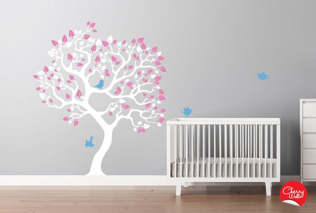 Baby Girl 39 S Nursery Tree Decal Modern Nursery Decor Seattle By Cherry Walls