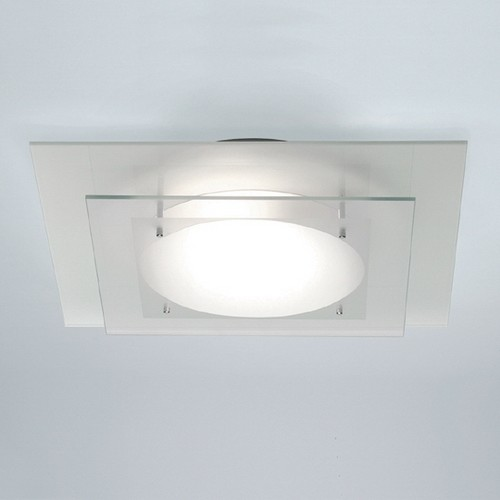 Square Tiered Glass Bathroom Ceiling Light - Contemporary - Bathroom Wall Lights - by Lighting ...