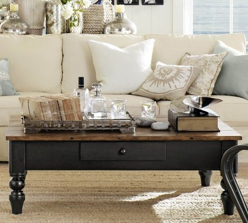 Keaton Coffee Table Traditional Coffee Tables By
