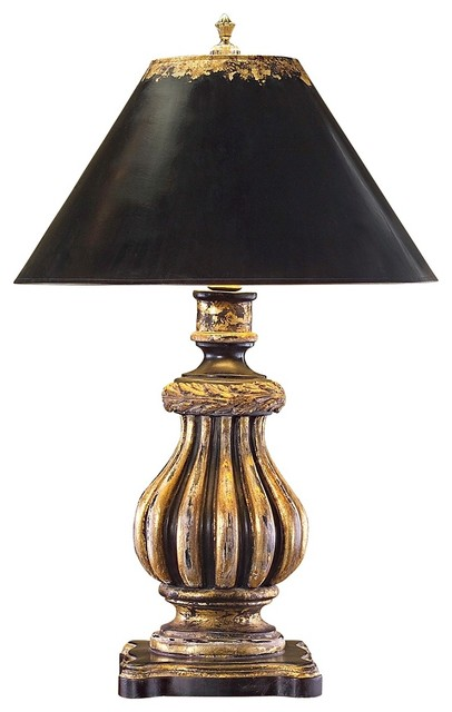 john richard black and gold urn table lamp traditional table lamps by lighting luxury style. Black Bedroom Furniture Sets. Home Design Ideas