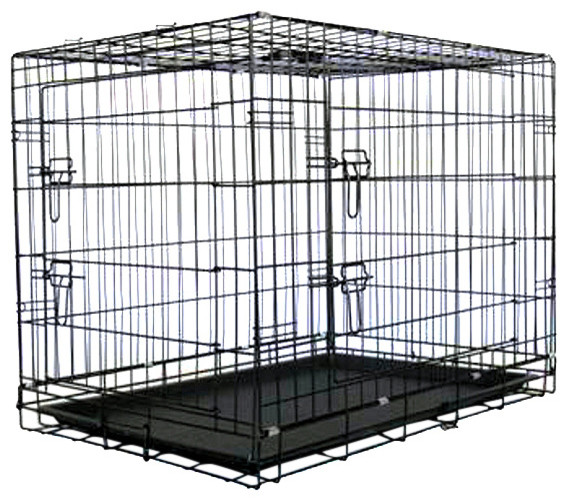 Metal Dog Crate With Divider Traditional Dog Kennels