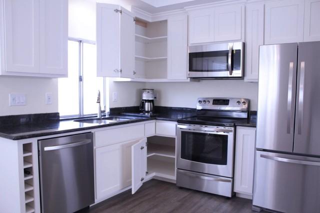 Bi fold doors archuleta kitchen craftsman san for Bi fold doors for kitchen cabinets