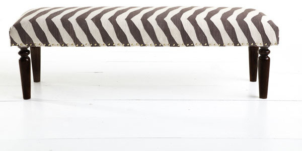 Kilim Bench Zebra Modern Indoor Benches Dallas By Wisteria