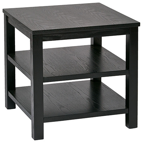 merge black 20 inch wide square end table modern side