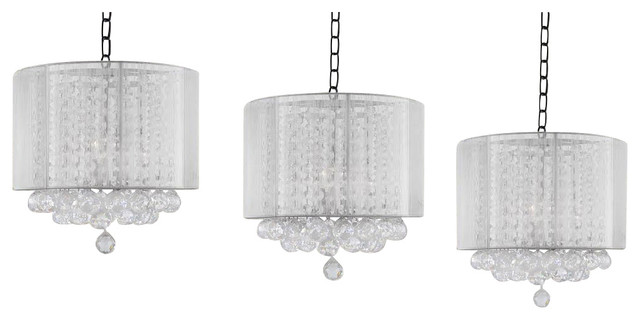 Piece Set Crystal Chandelier With Large White Shades And Balls