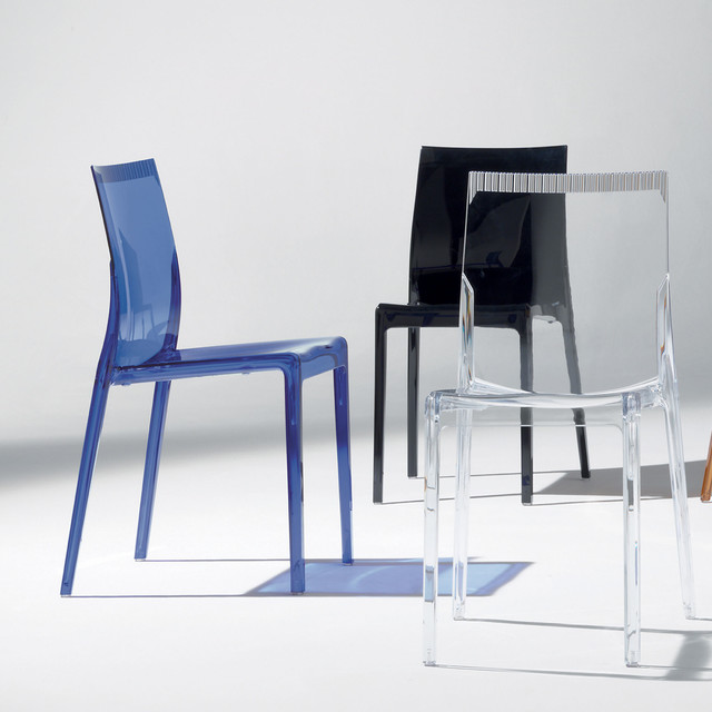39 waves 39 modern plastic dining chair by santrossa for Contemporary plastic dining chairs