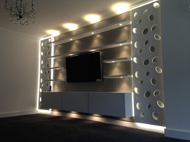 Contemporary living room tv unit contemporary living room west midlands by sliding Master bedroom tv wall unit