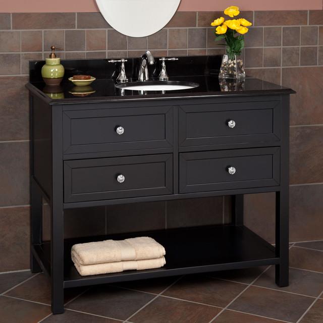44 taren vanity black transitional bathroom vanities and sink