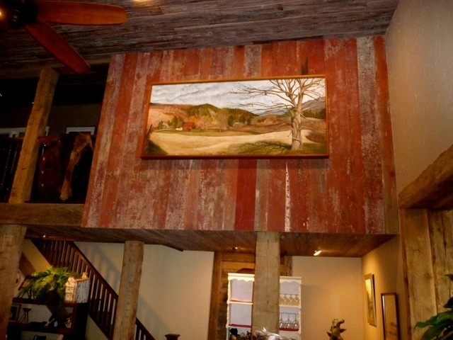 Reclaimed Barn Wood Red Gray Brown Traditional