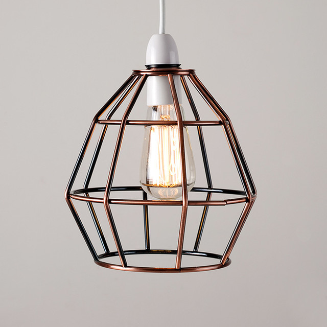 Angus Industrial Wall Light: Industrial Style 'Angus' Basket Pendant Shade