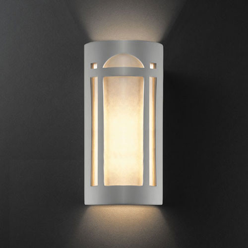 Ambiance Bisque Really Big Arch Window Two-Light Bathroom Wall Sconce - Modern - Bathroom Vanity ...