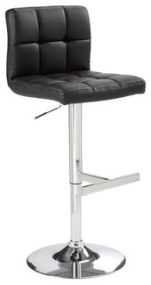 Rockwell Faux Leather Adjustable Bar Stool Modern Bar Stools And Kitchen