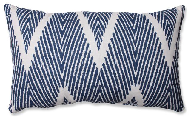 Bali Mandarin Rectangular Throw Pillow, Navy - Contemporary - Decorative Pillows - by Pillow ...