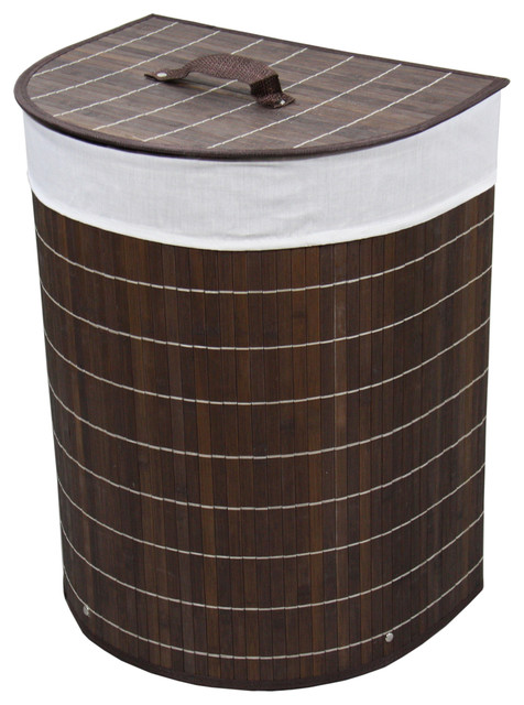 Bamboo laundry basket contemporary hampers by ore international