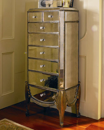 Mirrored Jewelry Armoire - Traditional - Jewelry Armoires - by Horchow