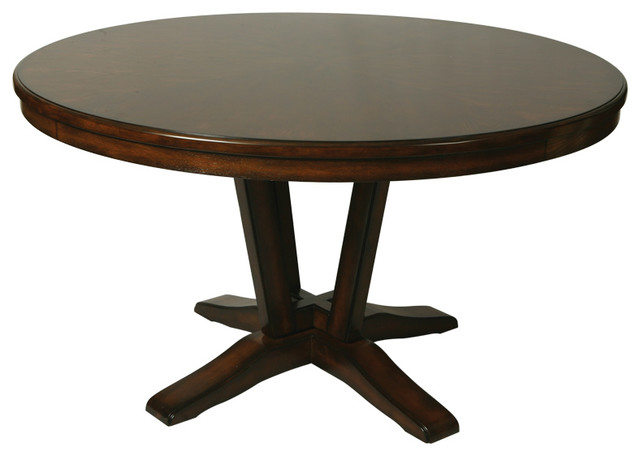 Pastel Devon Coast Round Wood Dining Table In Distressed