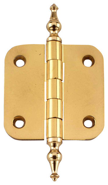 Cabinet Hinges Bright Solid Brass - Traditional - Hinges - by Renovator's Supply