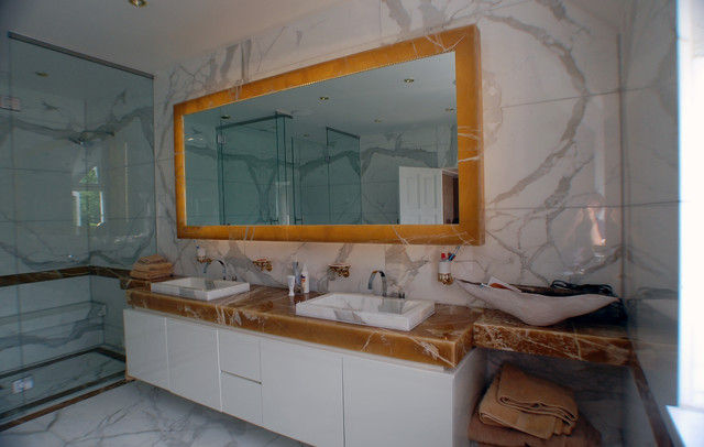 marble bathroom chislehurst contemporary bathroom mirrors other