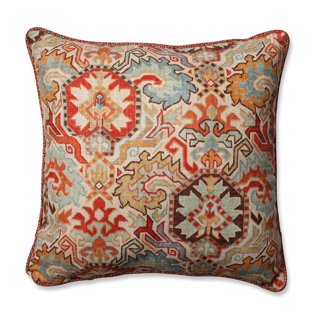 Madrid square throw pillow persian and tweak sedona for Decor pillows
