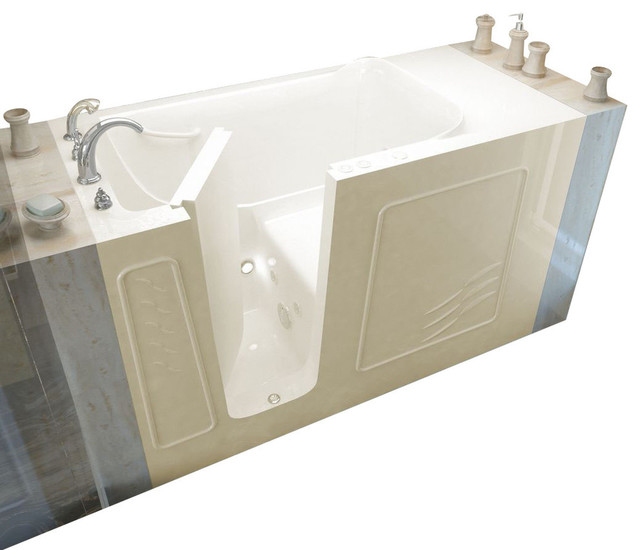 Meditub 30x60 Whirlpool Jetted Walk In Bathtub Traditional Bathtubs By