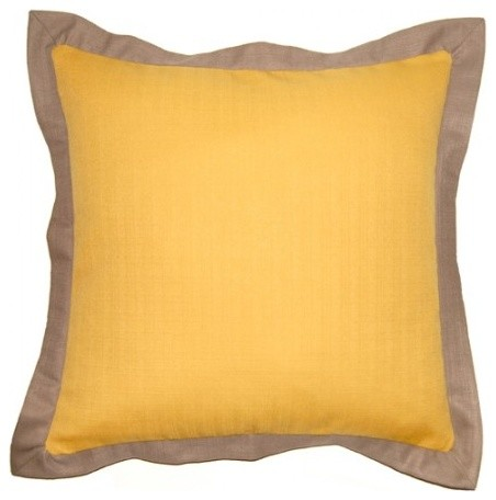 Decorative Pillows With Trim : Dijon, Solid With Trim - Contemporary - Decorative Pillows - austin - by Square Feathers, Rhome ...