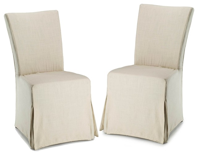 Suzie Slipcover Set Of 2 Contemporary Living Room Chairs By Zopalo