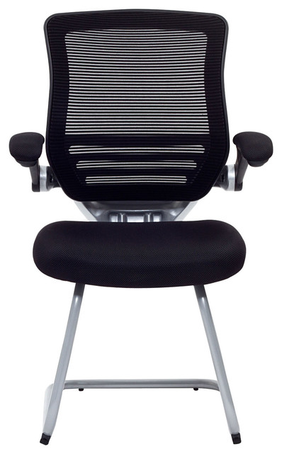 Edge Guest Chair With Sled Base Modern Office Chairs By LexMod