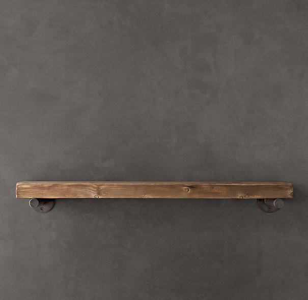 Reclaimed Wood Wall Shelf Industrial Display And Wall