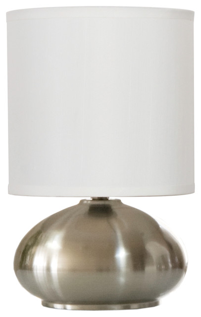 bedroom table lamp with on off touch sensor brushed
