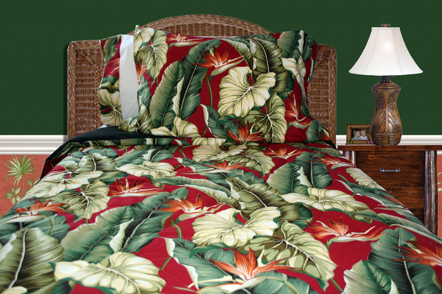 Palm Tree Quilt Sets: Birds Of Paradise Bedding