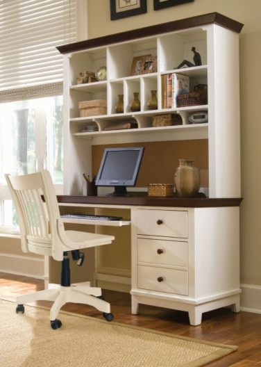 Computer Desk & Hutch - American Drew Sterling Pointe Collection 181-935R - Traditional - Desks ...