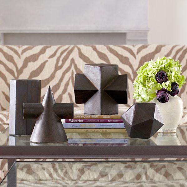 Geometric form octagon modern home accessories for Modern home decor dallas