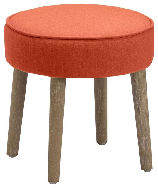 Vanity Stool In Orange Modern Vanity Stools And Benches