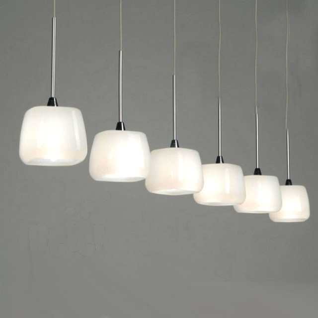 Modern Castiglioni Milk Glass Pendant Lighting